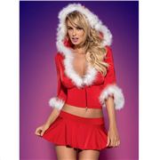 LINGERIE DE NATAL – SANTA LADY SKIRTY